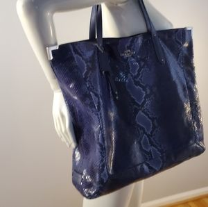 Coach Bags - COACH JOSIE XL EMBOSSED PYTHON TOTE